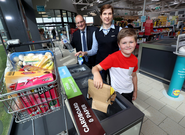 Lidl Lover Lewis Armstrong gets recycling with Lidl NI